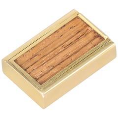 Gubelin Wood and Gold Sliding Pill Box