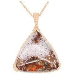 12.18 Carat Trillion Jelly Opal Pendant