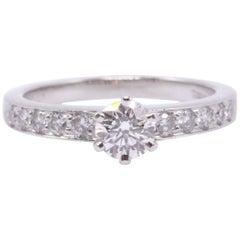 Tiffany & Co. Round Brilliant 0.70 Carat Diamond and Platinum Engagement Ring
