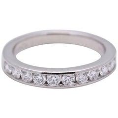 Tiffany & Co. Round Brilliant 0.33 Carat Diamond Wedding Band Ring in Platinum