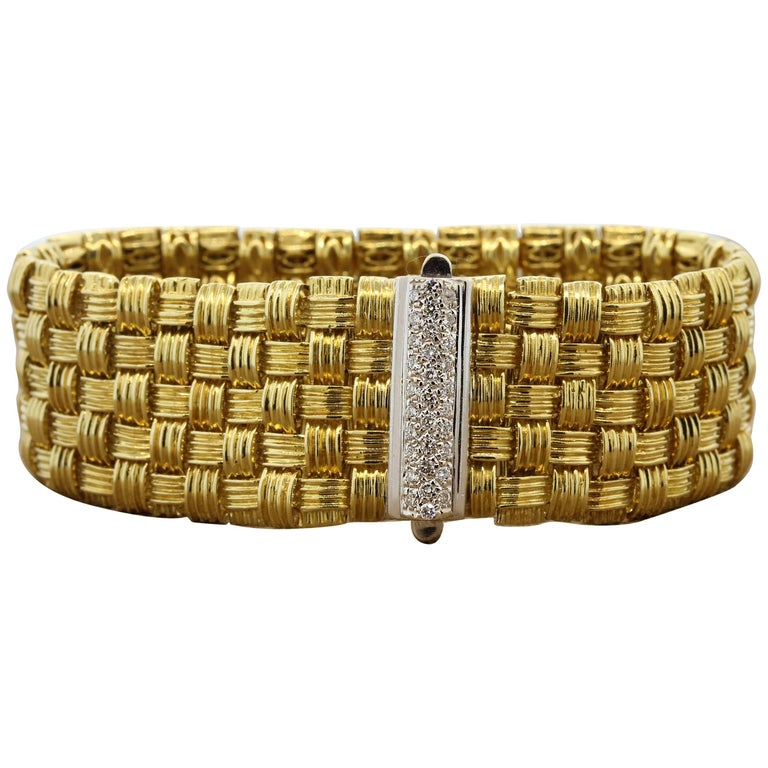 Roberto Coin Appassionata Diamond Five-Row Gold Bracelet