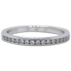 Tiffany & Co. Round Brilliant Diamond and Platinum Wedding Band Ring