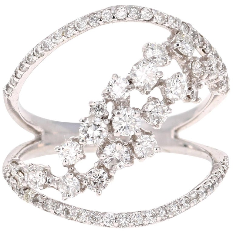 1.13 Carat Diamond Cocktail Ring