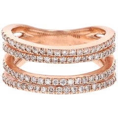 0.83 Carat Diamond Cocktail Ring 14 Karat Rose Gold