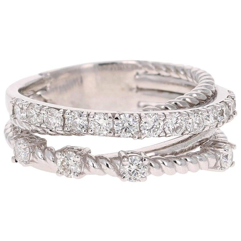 0.86 Carat Diamond Cocktail Ring