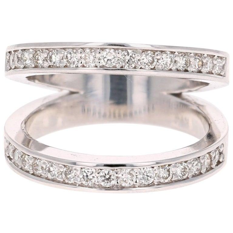 0.67 Carat Diamond Cocktail Ring 14 Karat White Gold