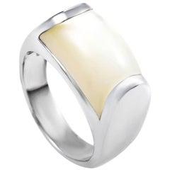 Bvlgari Tronchetto Women's 18 Karat White Gold Moonstone Ring