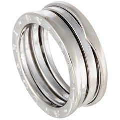 Bvlgari B.Zero1 18 Karat White Gold Three-Band Ring