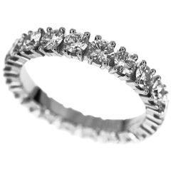Cartier 1.39 Carat Diamonds Platinum Destinée Eternity Band Ring