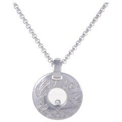 Chopard Chopardissimo 18 Karat White Gold Floating Diamond Pendant Necklace