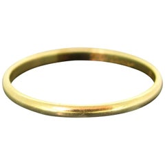 Vintage Cartier Yellow Gold Wedding Band Ring