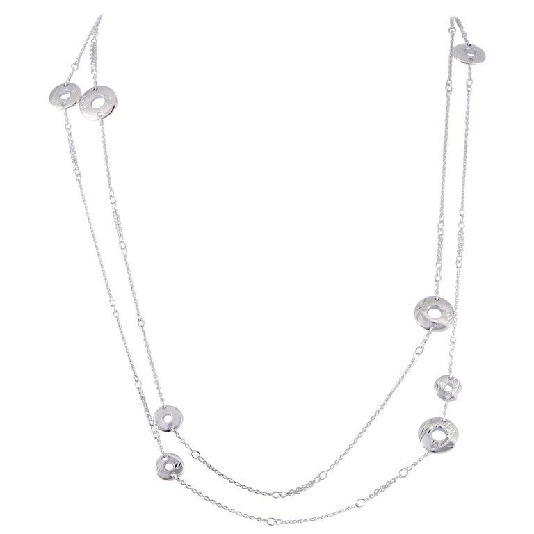 Chopard Chopardissimo 18 Karat White Long Sautoir Necklace