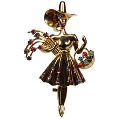 LaCloche Iconic Summer Girl Brooch