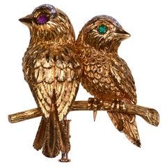 """Cartier """"Couple Inséparable"""" Birds Brooch"""