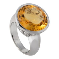 Carrera y Carrera Alegoria 18 Karat White Gold Citrine Ring BB0095910AA