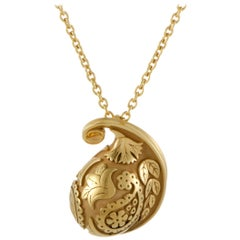 Carrera y Carrera Aqua Women's 18 Karat Yellow Gold Pendant Necklace