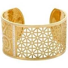 Carrera y Carrera Cordova Women's 18 Karat Yellow Gold Diamond Bangle Bracelet