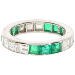Oscar Heyman Emerald and Diamond Eternity Ring, circa 1965