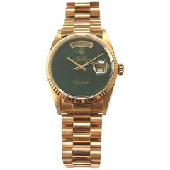 Rolex Yellow Gold President Day-Date Bloodstone Dial Automatic Wristwatch