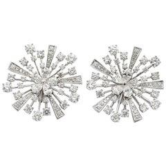Bvlgari Fireworks Diamond Earrings 18 Karat White Gold