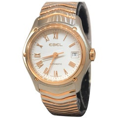 Ebel Classic Wave Gold and Stainless Steel Automatic Ladies Watch 1215926 New