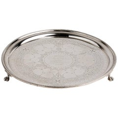 Sterling Silver '925‰' Salver, Martin & Ebenezer Hall, 1877-1878, London
