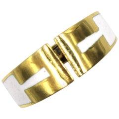 David Webb 1970s Enamel 18 Karat Yellow Gold Ring