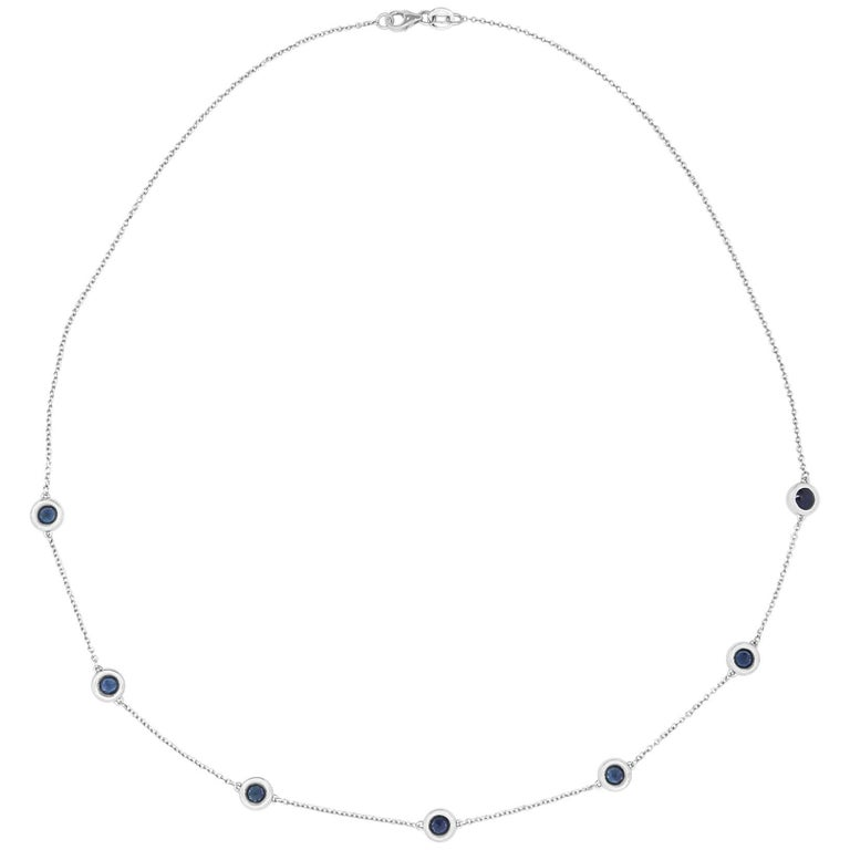 Gemstone by the Yard Blue Sapphire Necklace