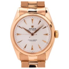 Rolex Pink Gold Oyster Perpetual Self Winding Wristwatch Ref 6084, circa 1950