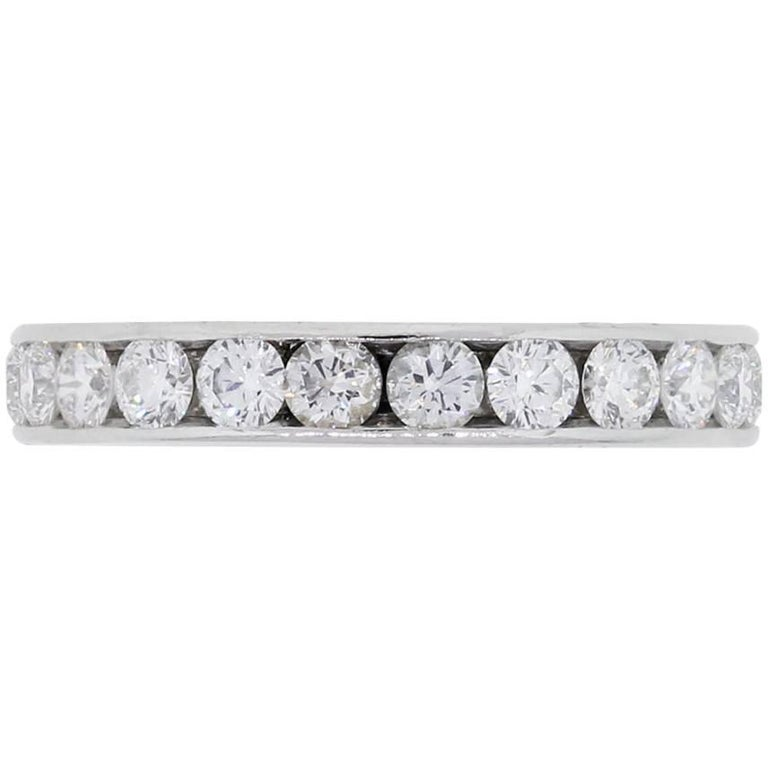 Tiffany & Co. Channel Set Diamond Eternity Ring