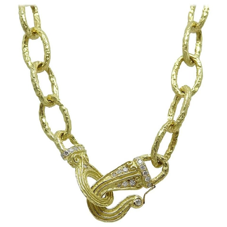 Katy Briscoe 18 Karat Yellow Gold Link Necklace