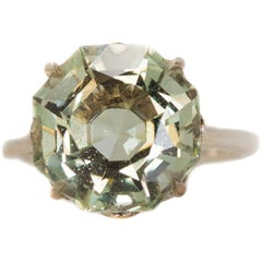 Tiffany & Co. 3 Carat Prasiolite and Sterling Silver Ring