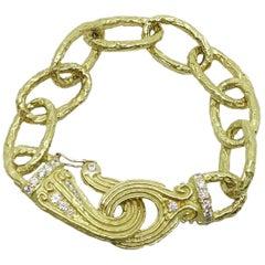 Katy Briscoe 18 Karat Yellow Gold Oval Link Bracelet
