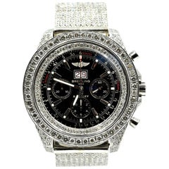 Breitling for Bentley stainless steel Diamond Custom automatic Wristwatch