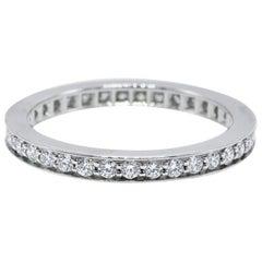 Cartier Ballerine 0.38 Carat Diamond Channel Set Wedding Band in Platinum