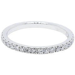 De Beers Classic Diamond Full Pave Band Ring 0.60 Carat in Platinum with Papers