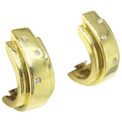 Piaget Possession 18 Karat Yellow Gold and Diamond Earrings