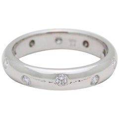Tiffany & Co. Etoile Round Brilliant Diamond and Platinum Wedding Band Ring