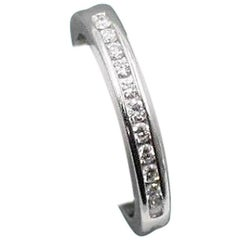 Tiffany & Co. Round Brilliant 0.22 Carat Diamond and Platinum Wedding Band Ring
