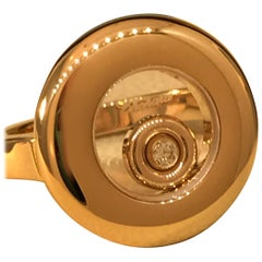 Chopard Happy Diamonds Rose Gold Ring 82/7211 Brand New
