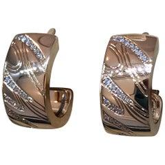 Chopard Chopardissimo 18 Karat Rose Gold and Diamond Earrings 83/7031-5002