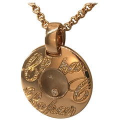 Chopard Chopardissimo 18 Karat Gold and Diamond Pendant 79/7601-5001 Brand New