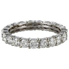 French 1960s Retro White Gold 1.80 Carat Diamond Wedding Ring