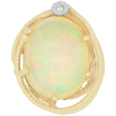 10.12 Carat Opal and Diamond Ring