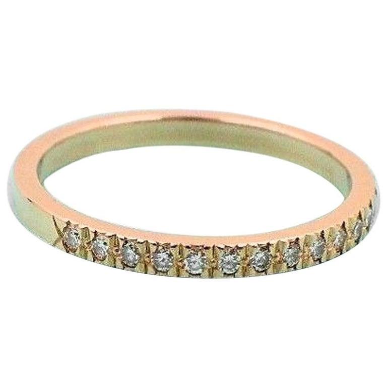 Tiffany & Co. Novo Diamond and 18 Karat Yellow Gold Wedding Band Ring
