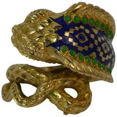 Unique 18 Carat Gold King Cobra Snake Ring