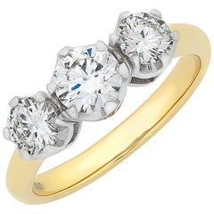 Three Brilliant Cut Diamond Engagement Ring
