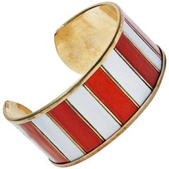Enamel Bracelet by Grete Prytz Kittelsen for J. Tostrup, Norway, 1950s