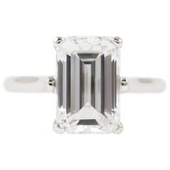 Tiffany & Co. GIA Certified 3.10 Carat Emerald Cut Solitaire Ring