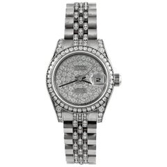 Rolex Ladies white gold Diamond Datejust automatic Wristwatch